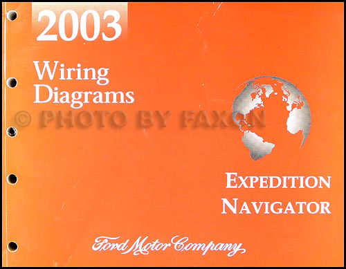 2003 Ford Expedition Lincoln Navigator Wiring Diagram Manual Original