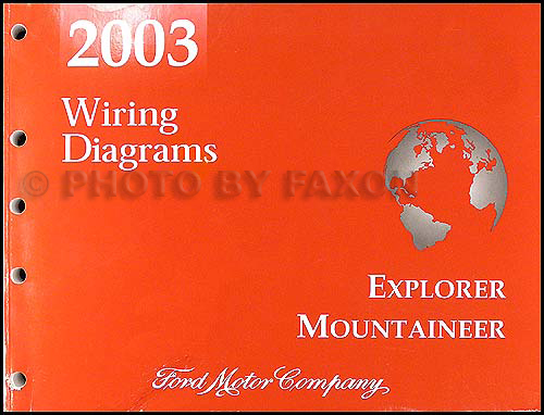 2003 Mountaineer And Explorer 4 Door Wiring Diagram Manual Original