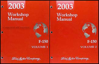 2003 ford f 150 repair shop manual original 2 volume set rh faxonautoliterature com 2004 ford f150 lariat owners manual 2003 Ford F-150 Lightning