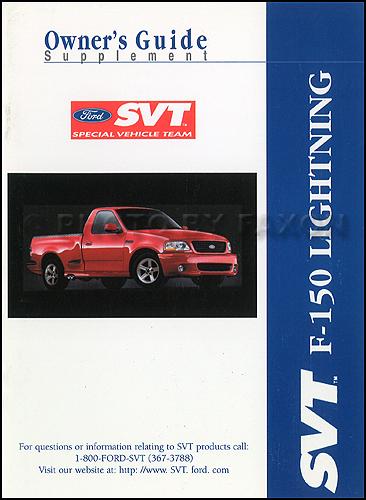 2003 ford f 150 svt lightning pickup truck owner s manual original rh faxonautoliterature com Ford Windstar Repair Manual Chilton Repair Manuals Ford