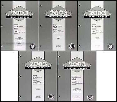 2003 silverado sierra repair shop manual original 5 volume set rh faxonautoliterature com 2004 silverado shop manual vol 1 2004 silverado shop manuals index