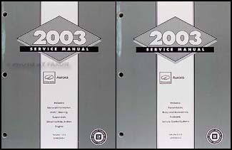 2003 olds aurora repair shop manual original 2 volume set. Black Bedroom Furniture Sets. Home Design Ideas