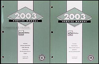 2003 chevy malibu repair shop manual original 2 volume set rh faxonautoliterature com 2003 chevy malibu repair manual free download 2004 chevy malibu repair manual