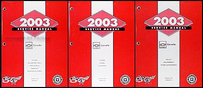 2003 Chevrolet Corvette Repair Manual Original 3 Volume Set