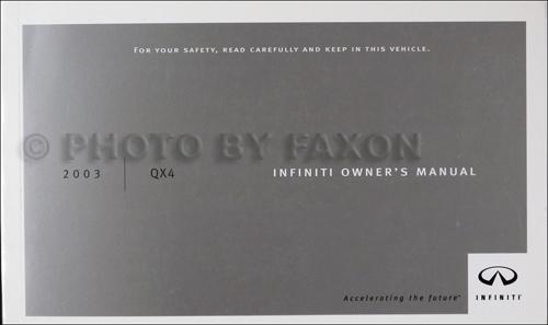 2003 infiniti qx4 owner s manual original rh faxonautoliterature com 2003 Infiniti QX4 Inside 2000 infiniti qx4 manual