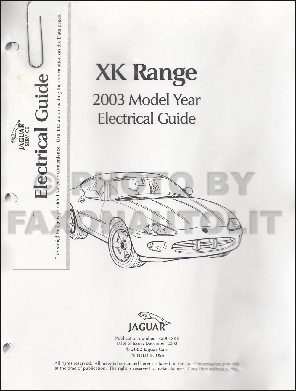 2003 Jaguar Xk8 And Xkr Electrical Guide Wiring Diagram Wiring Diagram 2001 Jaguar  XJ8 Jaguar Xkr Wiring Diagram