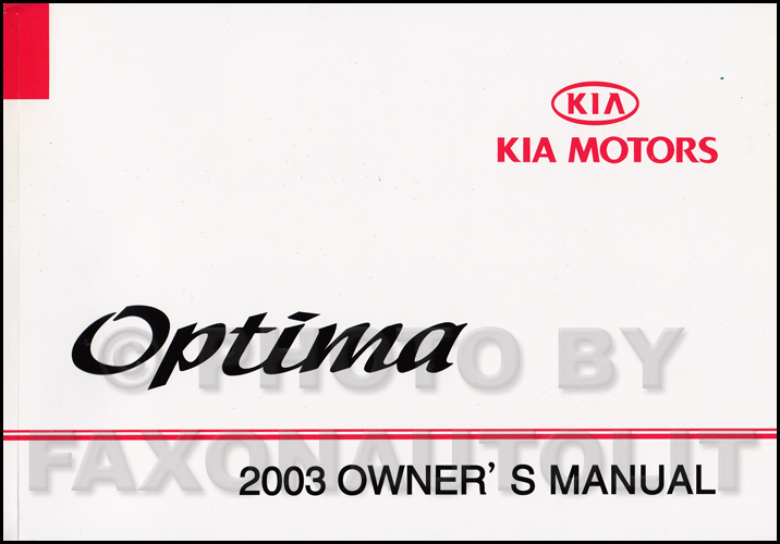 for manual optima 2003 kia repair