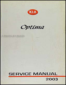 2003 kia optima electrical troubleshooting manual original. Black Bedroom Furniture Sets. Home Design Ideas