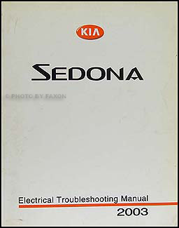 2003 Kia Sedona Electrical Troubleshooting Manual Original