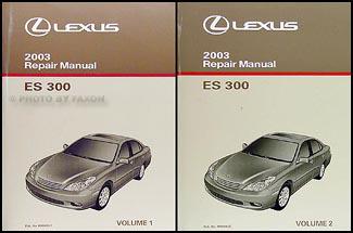 2003 lexus es 300 repair shop manual original 2 volume set rh faxonautoliterature com 2003 lexus es300 repair manual pdf 2003 lexus gs300 owners manual