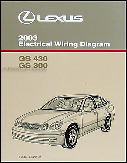 2003LexusGSEWD 2003 lexus gs 300 & gs 430 wiring diagram manual original  at readyjetset.co