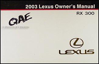 2003 lexus rx 300 wiring diagram manual original 2003 lexus rx 300 owners manual original