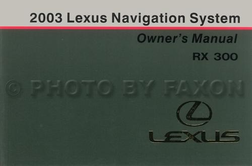 2003 Lexus Rx 300 Wiring Diagram Manual Original