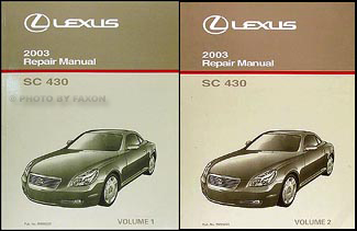 2003 lexus sc 430 repair shop manual original set new 2003 lexus lx 470