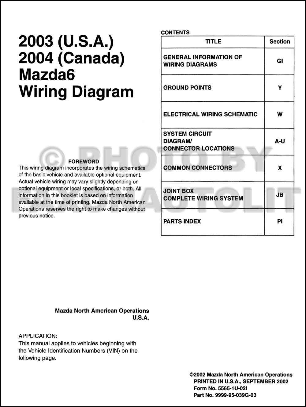 mazda 6 wiring diagram manual 2004 mazda 6 wiring diagram 2003 mazda6 original wiring diagram (and 2004 canada mazda 6) #12