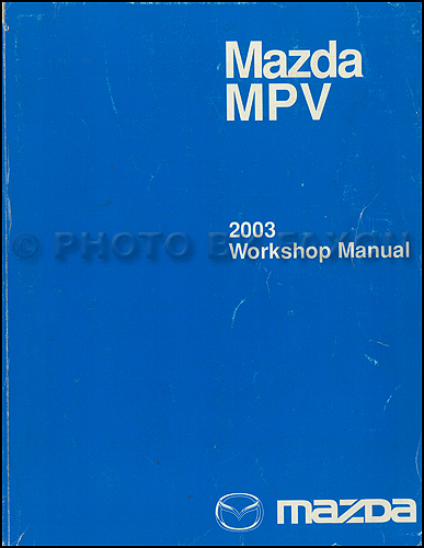 2003 Mazda Mpv Wiring Diagram Manual Original