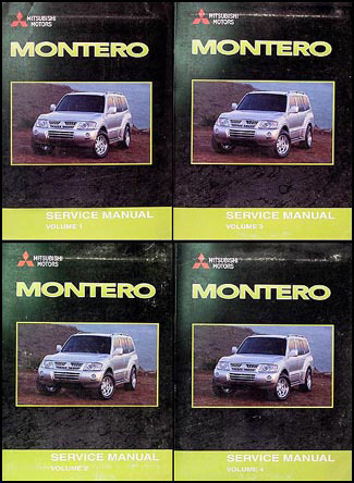 2003 Mitsubishi Montero Repair Manual Set Original