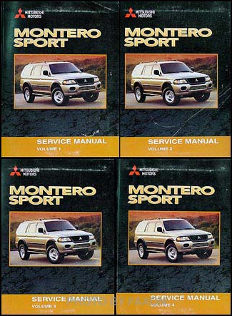 2003 mitsubishi montero sport repair shop manual set original rh faxonautoliterature com 2003 Mitsubishi Montero Service Manual 2003 Mitsubishi Montero Service Manual