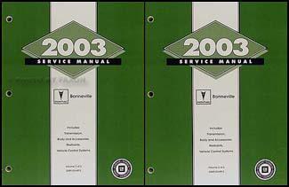 2003 pontiac bonneville repair shop manual original 2 vol set rh faxonautoliterature com 2003 pontiac bonneville service manual 2003 pontiac bonneville service manual