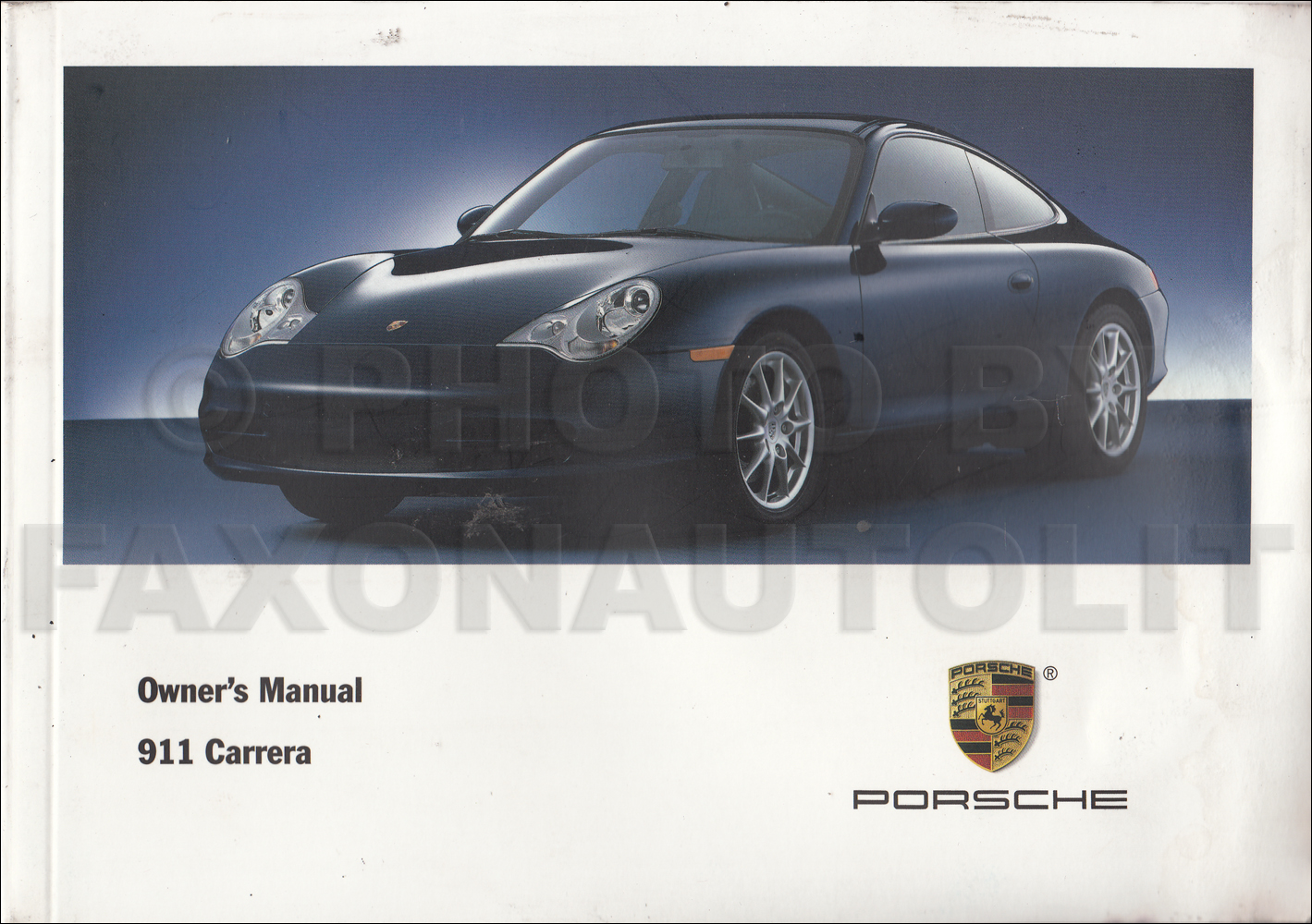 2003 Porsche 911 Carrera Owner's Manual Original. 2005 Nissan Maxima CD-ROM Repair  Manual