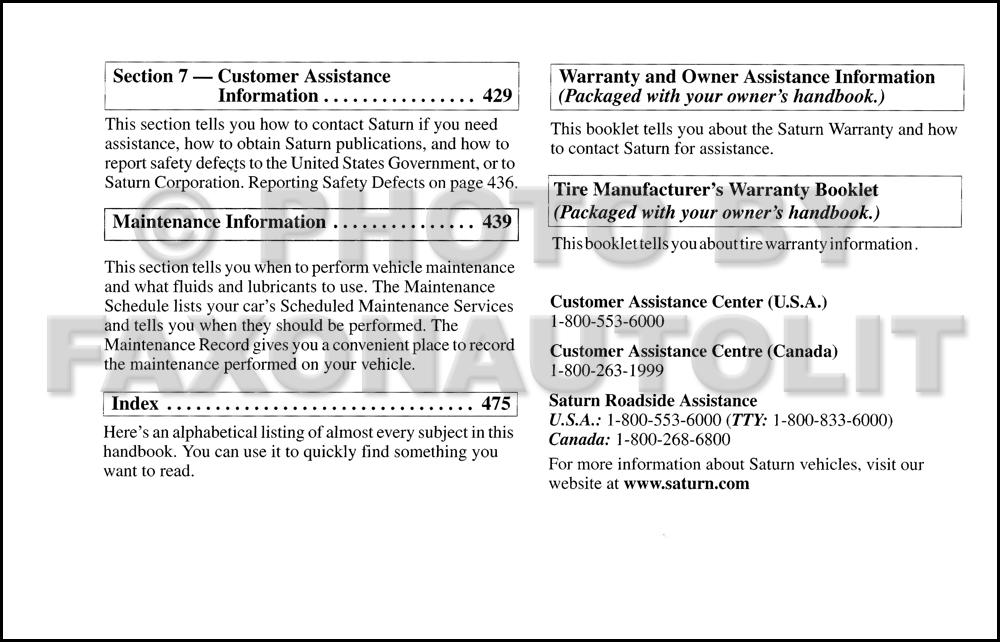 2003 saturn vue owner s manual original rh faxonautoliterature com saturn vue owner's manual 2006 saturn vue owner's manual 2008