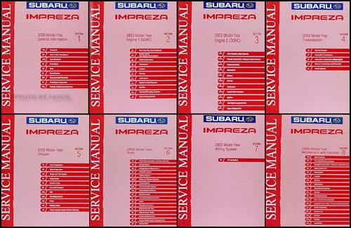 2003 subaru impreza wrx repair shop manual 8 volume set original rh faxonautoliterature com 2012 Subaru Impreza WRX 2008 subaru wrx service manual pdf
