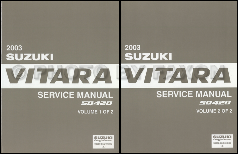 2003 suzuki vitara repair shop manual set original rh faxonautoliterature com grand vitara service manual 2007 2009 suzuki grand vitara repair manual