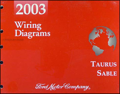 2003TaurusSableWD 2003 ford taurus & mercury sable wiring diagrams manual original Aftermarket Radio Wiring Harness at bayanpartner.co