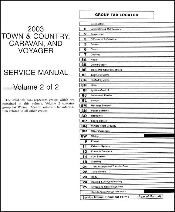 2003 minivan repair shop manual original town country caravan rh faxonautoliterature com 2006 dodge grand caravan sxt owners manual 2006 dodge grand caravan owner's manual