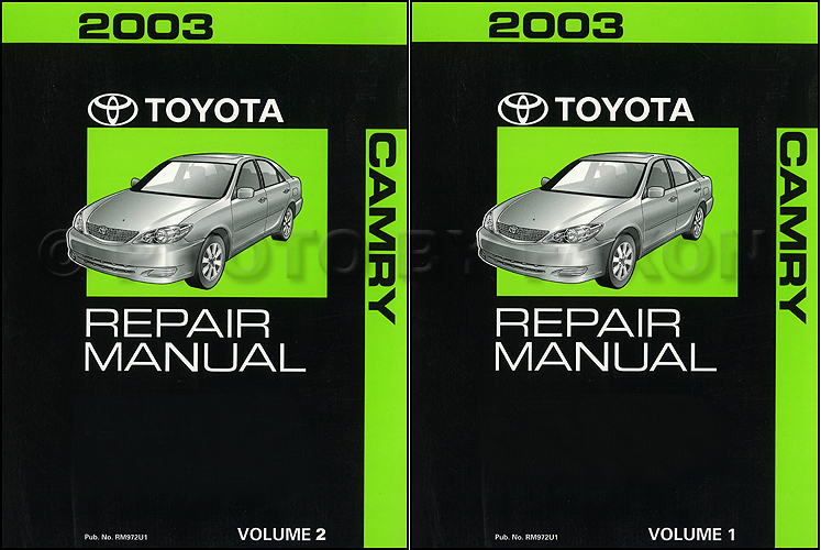 2003ToyotaCamryORMSet 2003 toyota camry repair shop manual 2 volume set original 2002 camry le wiring diagram at mifinder.co