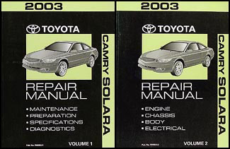 2003 Toyota Camry Solara Wiring Diagram Manual Original