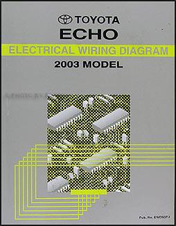 2003 toyota echo wiring diagram manual original rh faxonautoliterature com