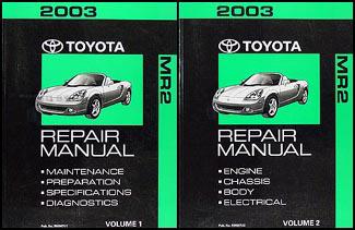 2003 toyota mr2 spyder repair shop manual original rh faxonautoliterature com 2000 Toyota MR2 Spyder 2004 Toyota MR2 Spyder