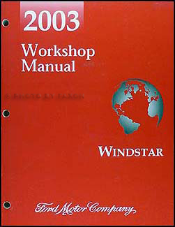 2003 ford windstar wiring diagram manual original 2003 ford windstar repair shop manual original