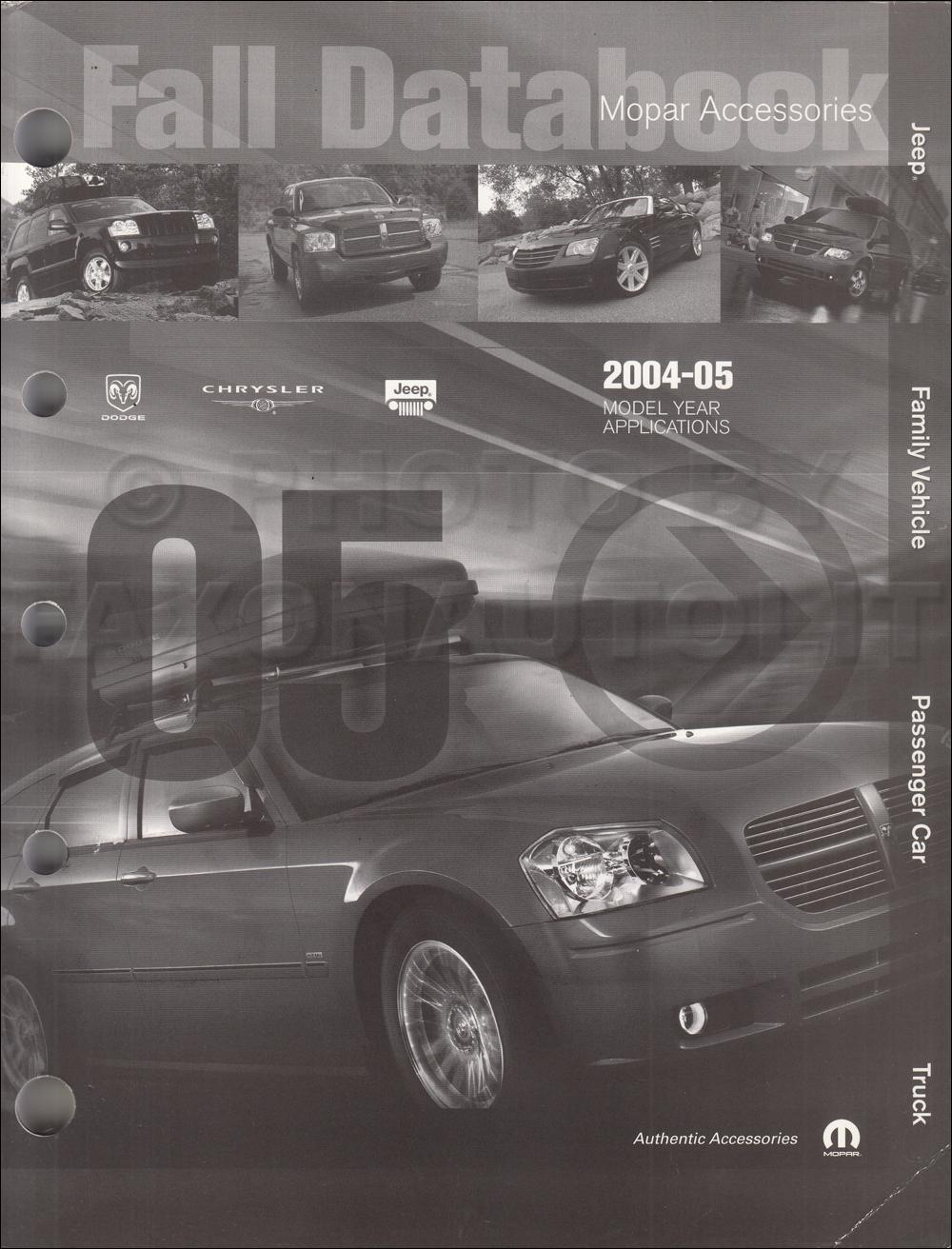 2004-2005 MoPar Accessories Databook Original Fall