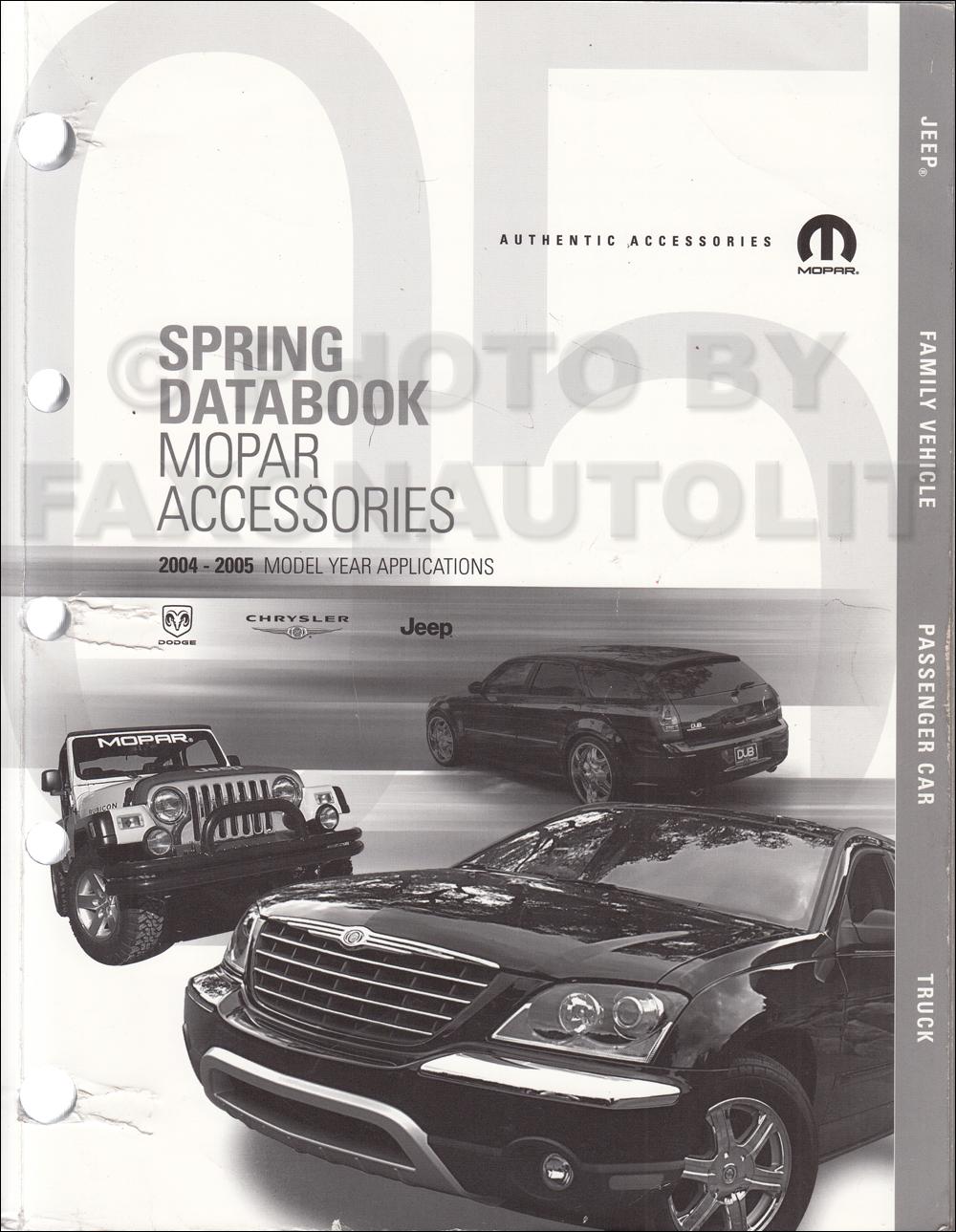 2004-2005 MoPar Accessories Databook Original Spring