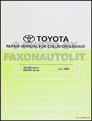 2004 2008 toyota camry solara body collision repair shop manual original rh faxonautoliterature com