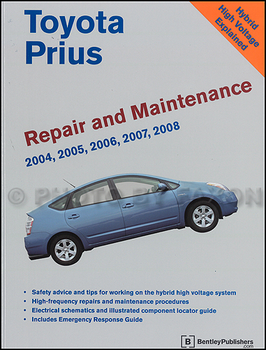 2004 2008 toyota prius bentley repair shop manual. Black Bedroom Furniture Sets. Home Design Ideas