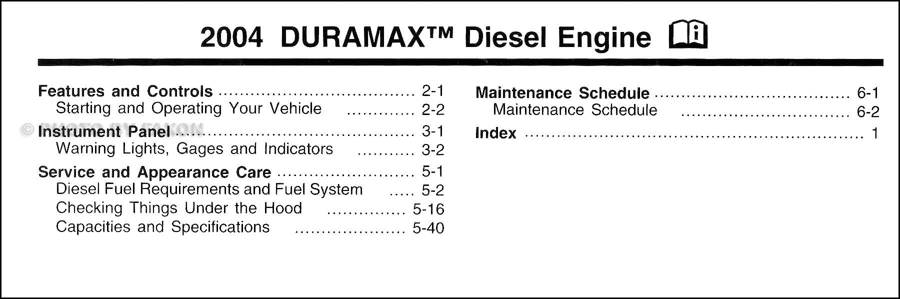 Chevy 1500 maintenance schedules user manuals array 2004 silverado sierra duramax diesel owners manual supp chevrolet gmc rh faxonautoliterature com fandeluxe Image collections