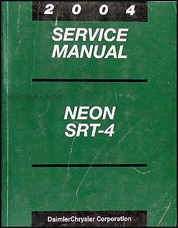 dodge neon wiring diagram manual original 2004 dodge neon srt 4 repair shop manual original 169 00