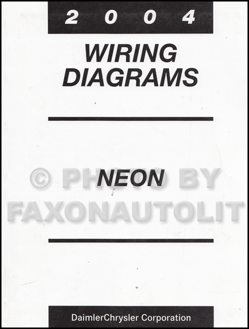 2004 dodge neon wiring diagram manual original Car Stereo Wiring Diagram 96 Dodge Neon 2004 dodge neon wiring diagram manual original