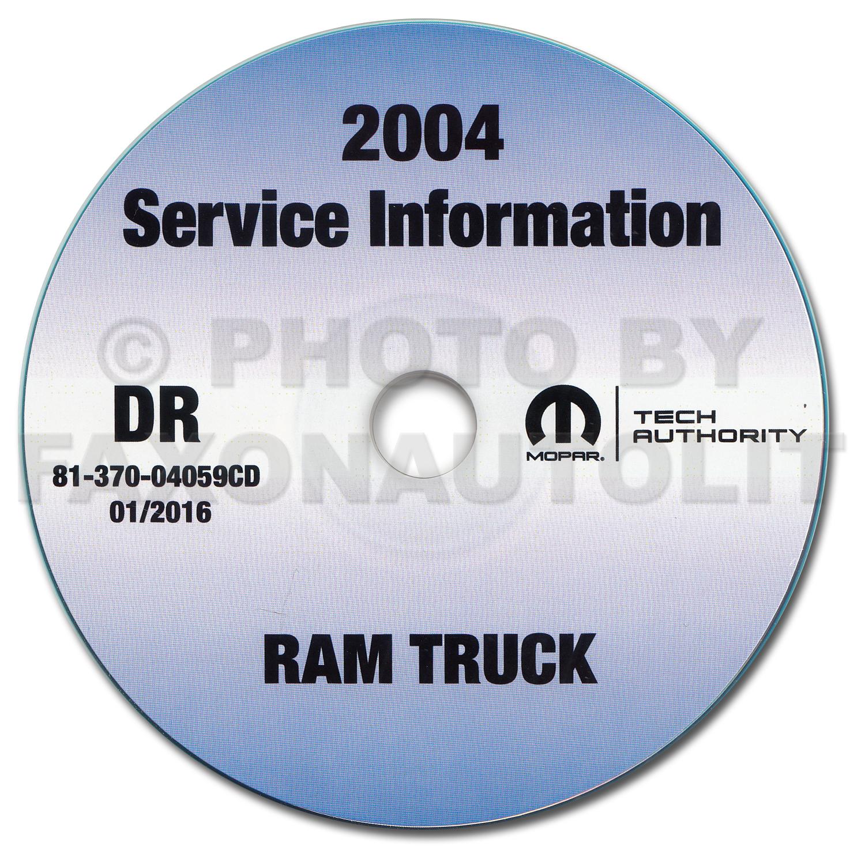 2004 Dodge Ram Truck CD-ROM Shop Manual Original 1500-2500-3500