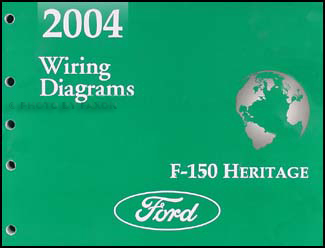 2004 Ford F-150 Heritage Wiring Diagram Manual Original