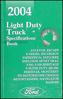 2004 Ford Truck SUV and Van Service Specifications Book Original