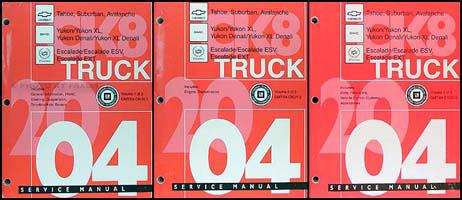 2004 c k suv repair shop manual set avalanche suburban tahoe denali rh faxonautoliterature com 1999 Chevrolet Suburban 2004 chevy suburban repair manual
