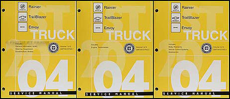 2004 rainier trailblazer envoy bravada repair shop manual original 3 rh faxonautoliterature com 2004 buick rainier repair manual free 2004 buick rainier service manual