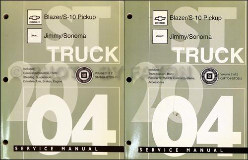 2004 Rainier Trailblazer Envoy Bravada Repair Shop Manual border=