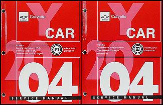 2004 Chevrolet Corvette Repair Manual Original 2 Volume Set