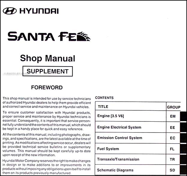 santa fe repair manual open source user manual u2022 rh dramatic varieties com Hyundai Santa Fe Commercial hyundai santa fe 2001 workshop manual pdf