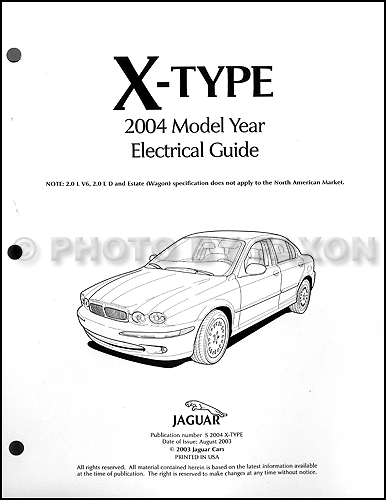 2004 jaguar x type electrical guide wiring diagram rh faxonautoliterature com